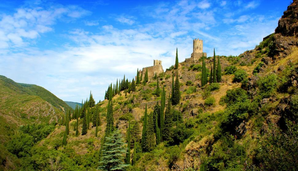 Download Free Stock Photo of Chateaux de Lastours - Cathar Castles - 11th Century - France