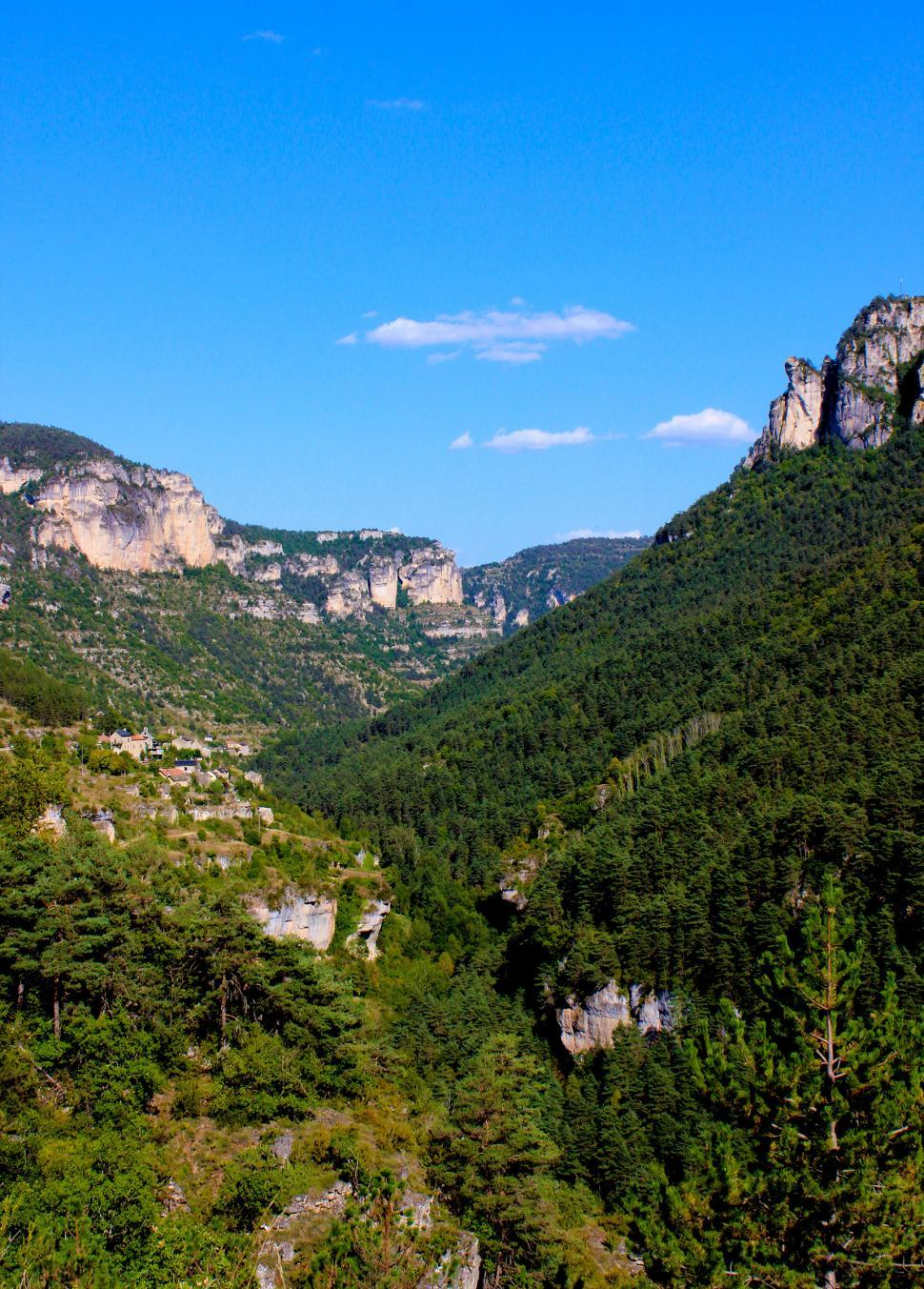 Download Free Stock HD Photo of Canyon - Typical Landscape in Gorges du Tarn - Southern France Online