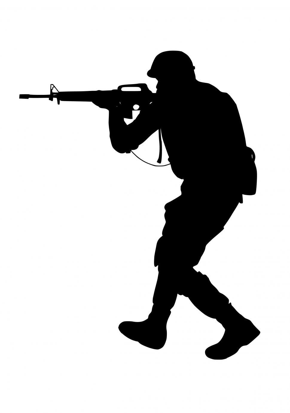 Download Free Stock Photo of special forces Silhouette