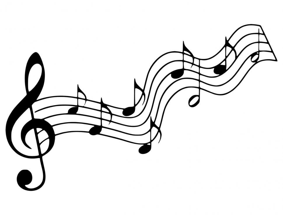 Download Free Stock Photo of music note Silhouette