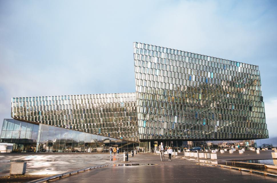 Download Free Stock HD Photo of Harpa concert hall in ReykjavÌk, Iceland Online