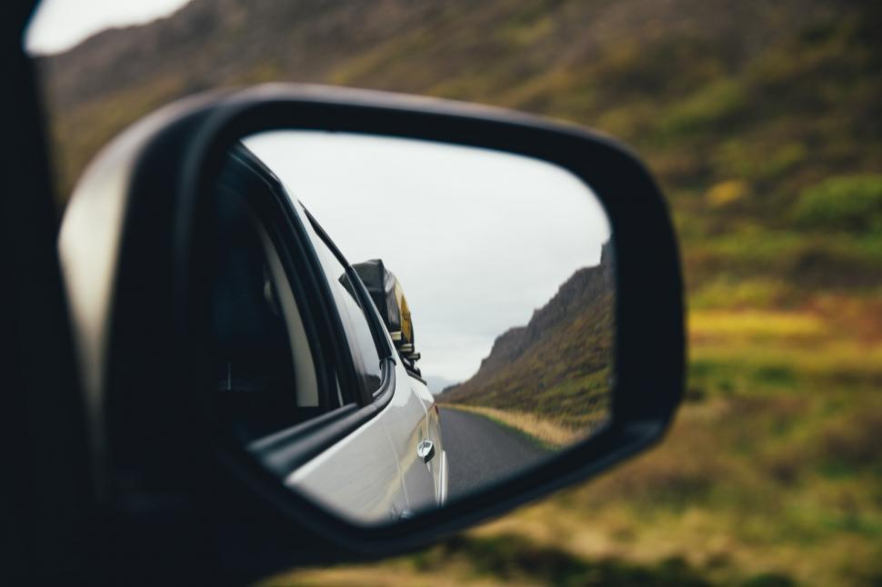 Download Free Stock Photo of Side view mirror of a car