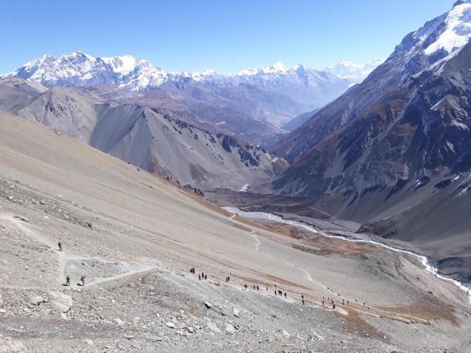 Download Free Stock HD Photo of Tilicho Lake Trek Route  Online