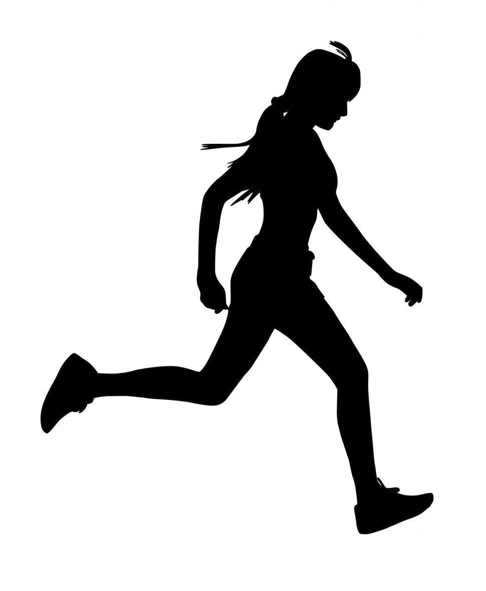 Download Free Stock HD Photo of woman running Silhouette  Online