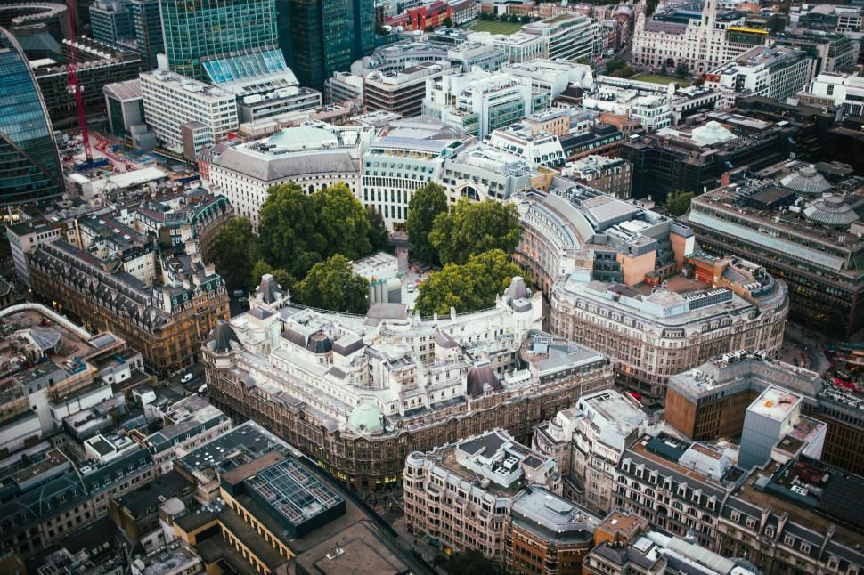 Download Free Stock HD Photo of Aerial view of downtown London Online
