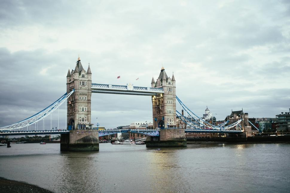 Download Free Stock Photo of London tower bridge at Sunset