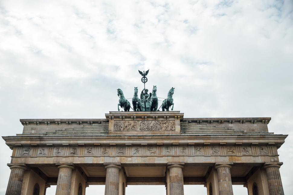 Download Free Stock HD Photo of Brandenburg Gate on a cloudy day Online