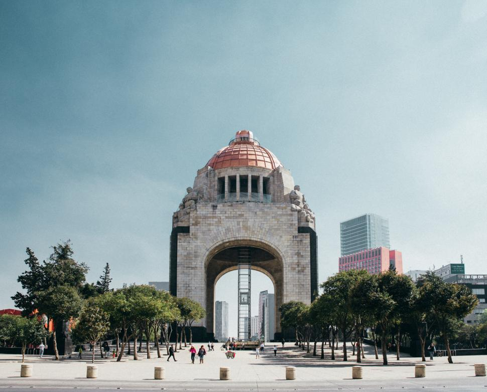 Download Free Stock Photo of Street view of Monumento A La Revolucion Mexico City, Mexico