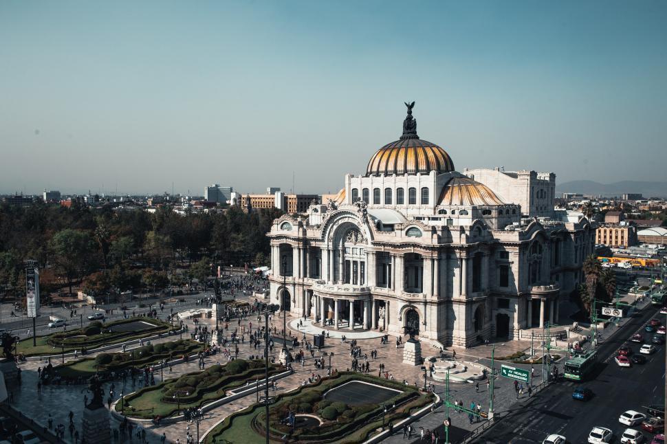 Download Free Stock HD Photo of Corner view Palacio de Bellas Artes, Mexico City Online