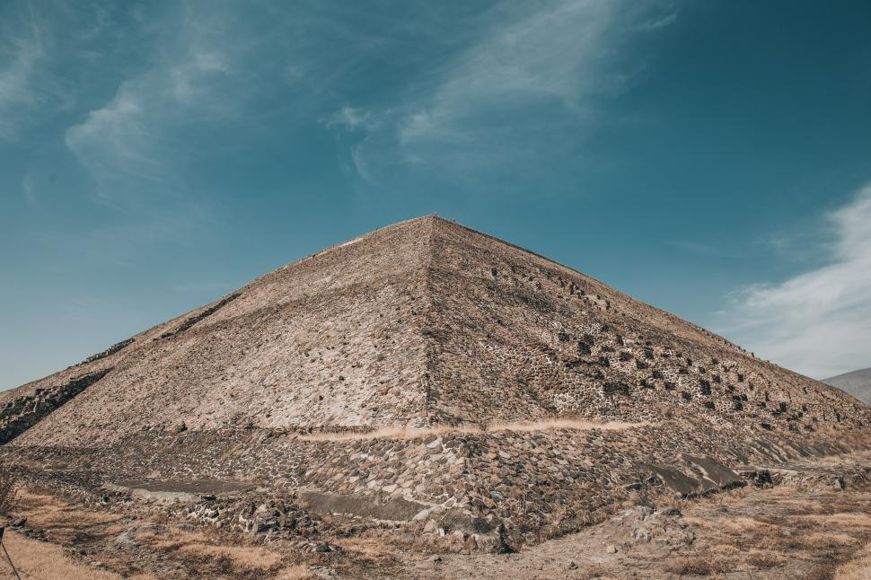 Download Free Stock Photo of Pyramid of the Sun in Mexico State, Mexico