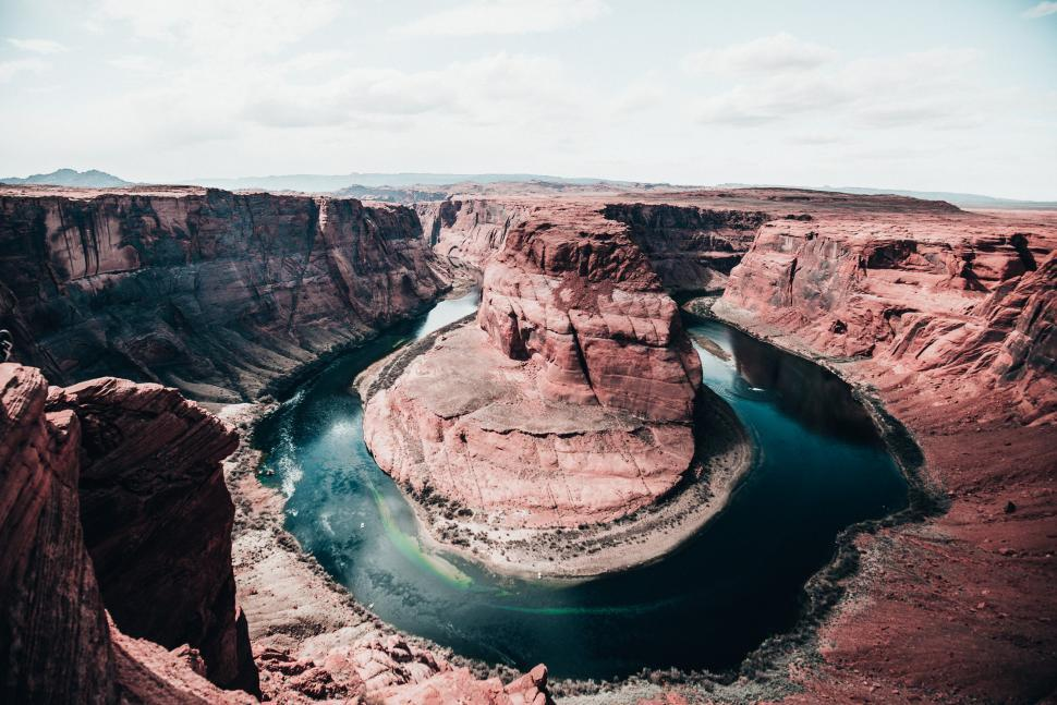 Download Free Stock Photo of Horseshoe bend of the Colorado river