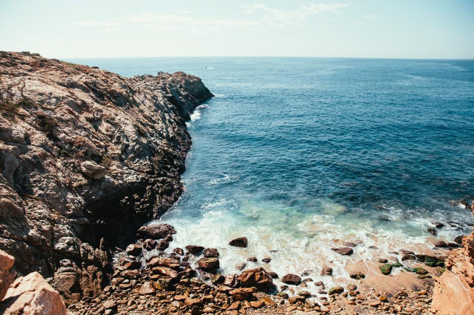 Download Free Stock HD Photo of Ocean waves crashing on rocks Online