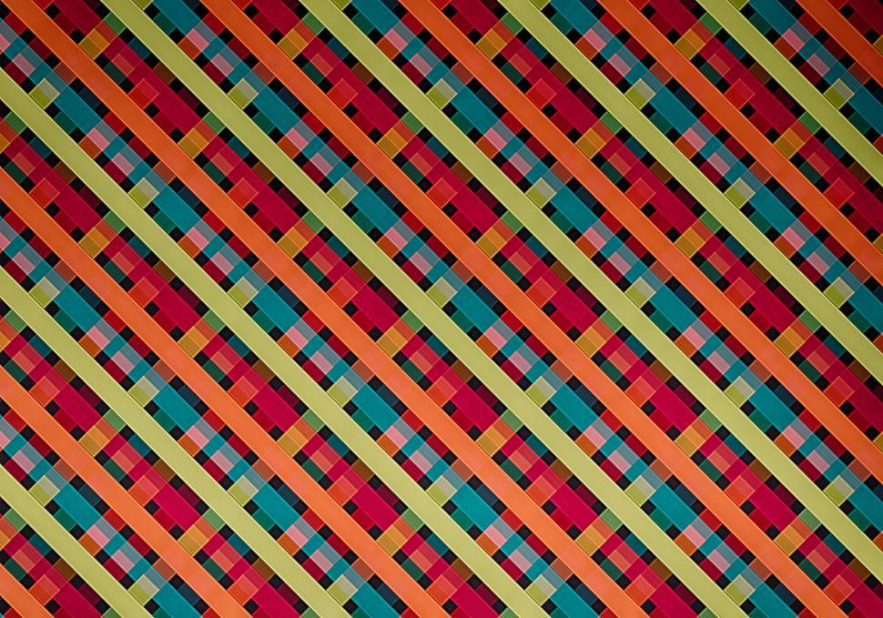 Download Free Stock Photo of Colorful diagonal pattern background