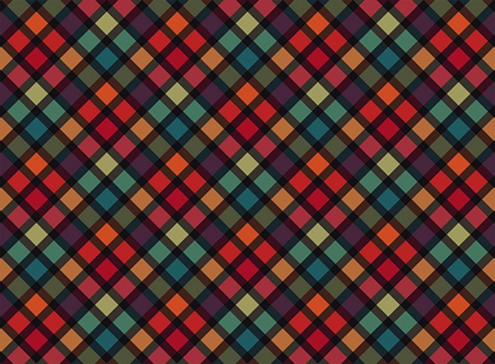 Download Free Stock Photo of Colorful repeating grid pattern background