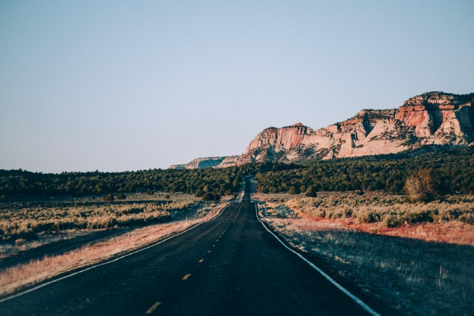 Download Free Stock Photo of An American desert highway