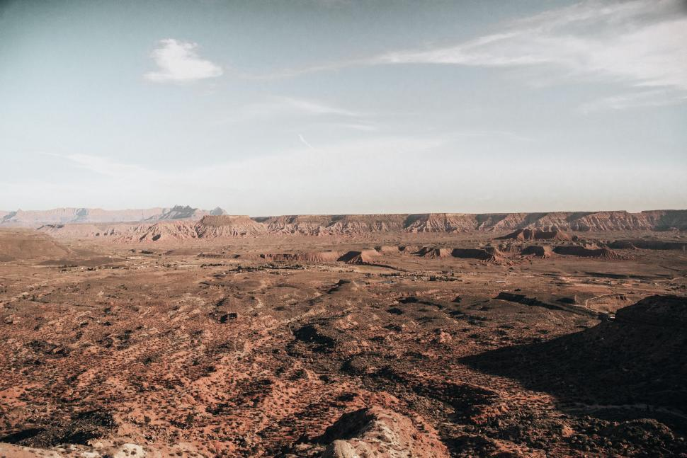 Download Free Stock HD Photo of A panoramic view of Arizona desert landscape Online
