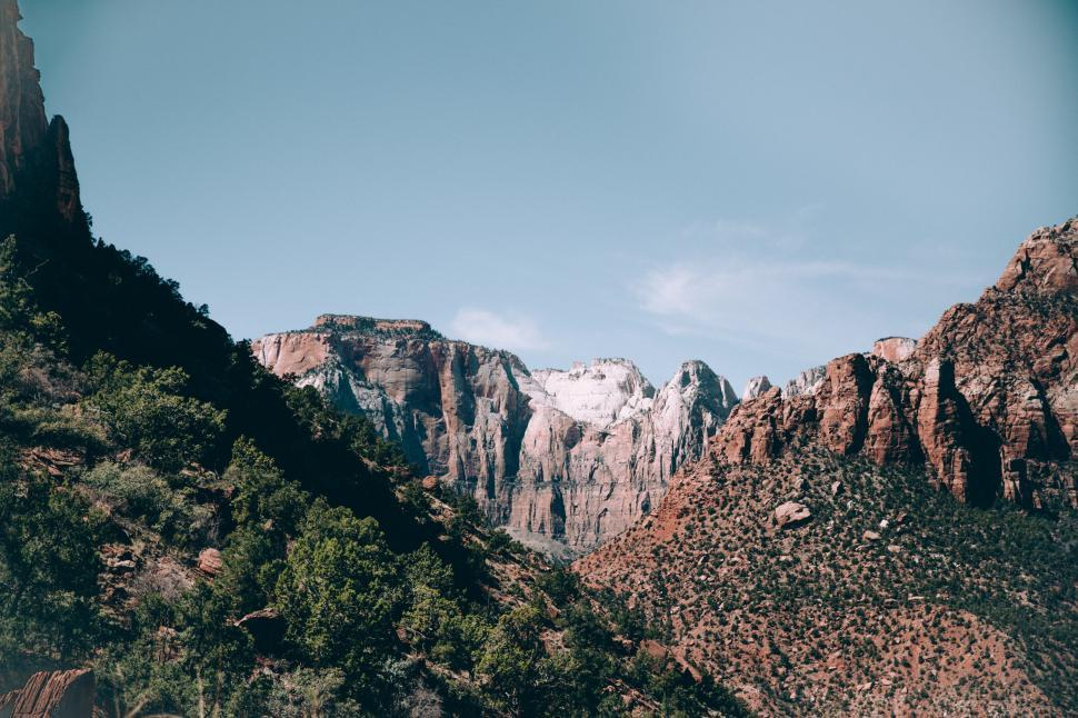 Download Free Stock Photo of Arizona landscape with layered rock formations