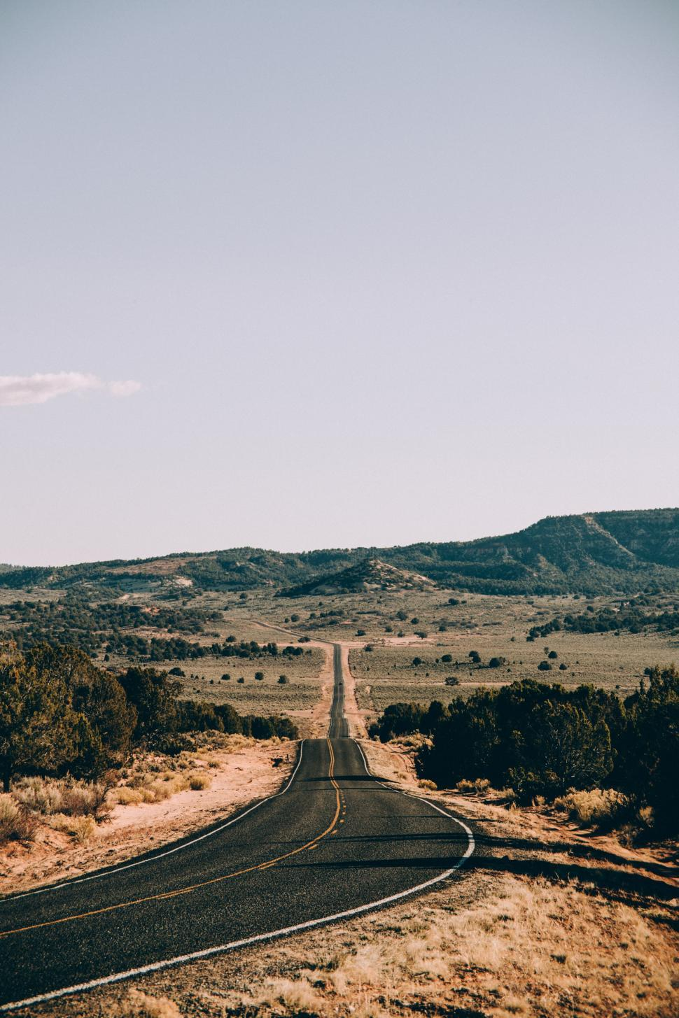 Download Free Stock HD Photo of Long highway in Arizona desert Online