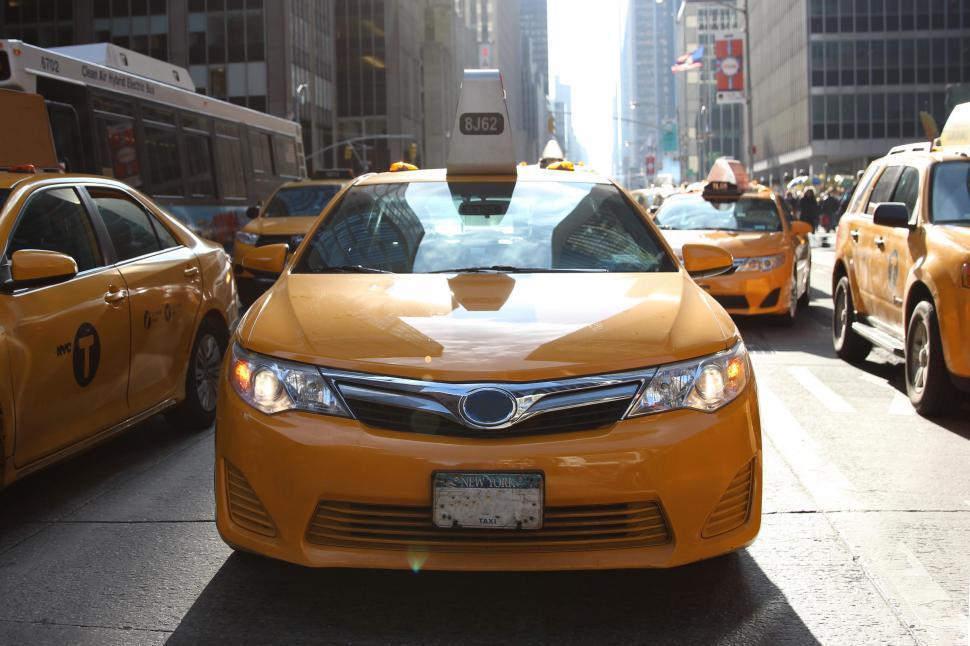 Download Free Stock Photo of New york city yellow taxis
