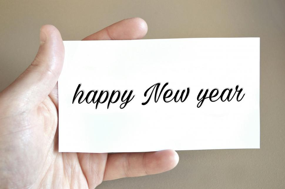 Download Free Stock Photo of new year card