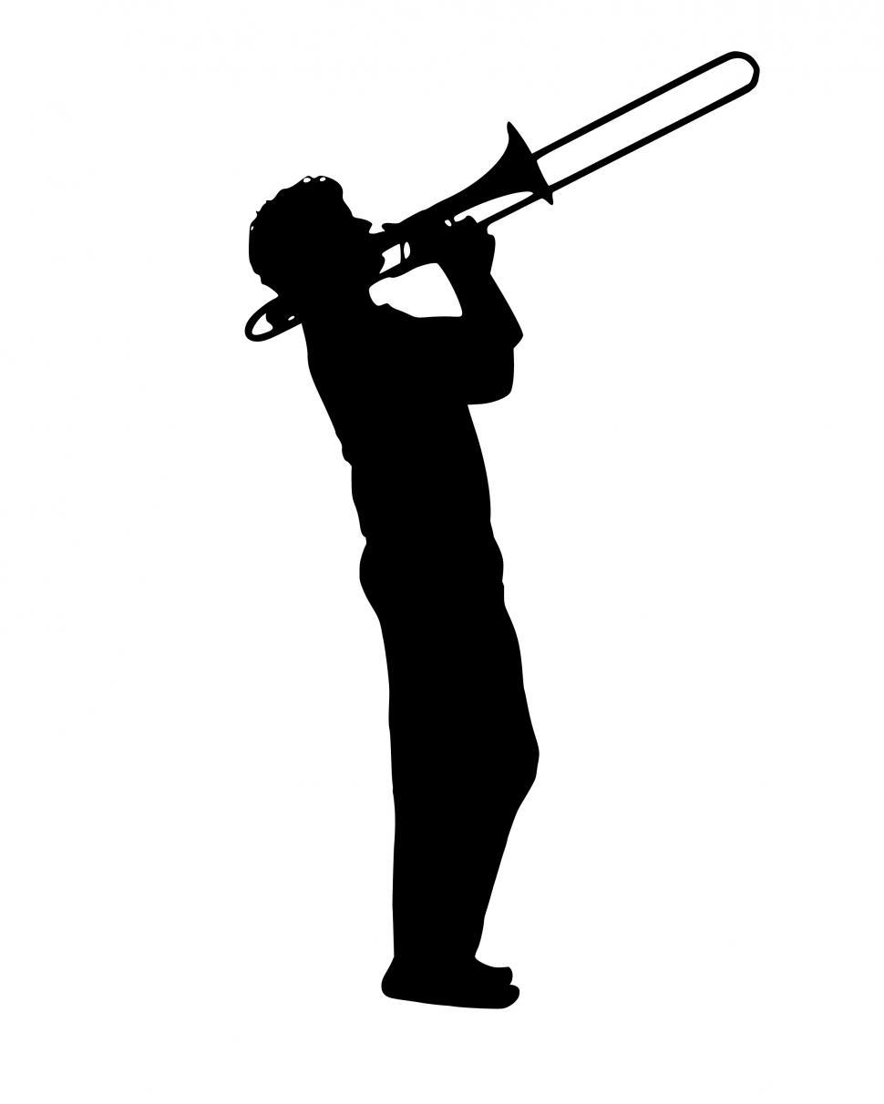 Download Free Stock Photo of jazz Silhouette