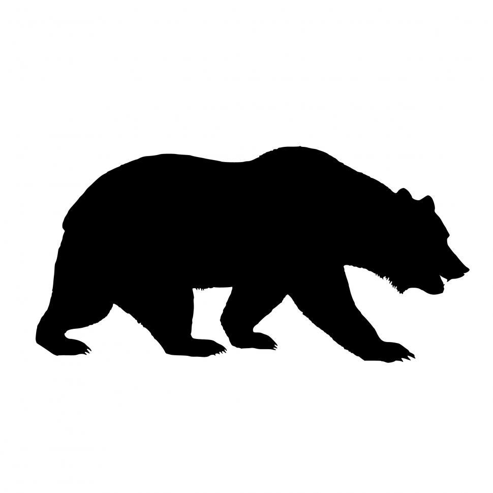 Download Free Stock HD Photo of bear Silhouette  Online