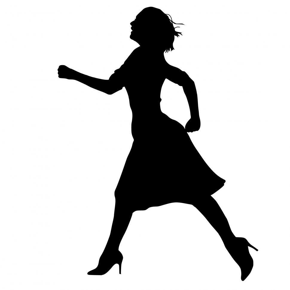 Download Free Stock HD Photo of running Businesswoman Silhouette  Online