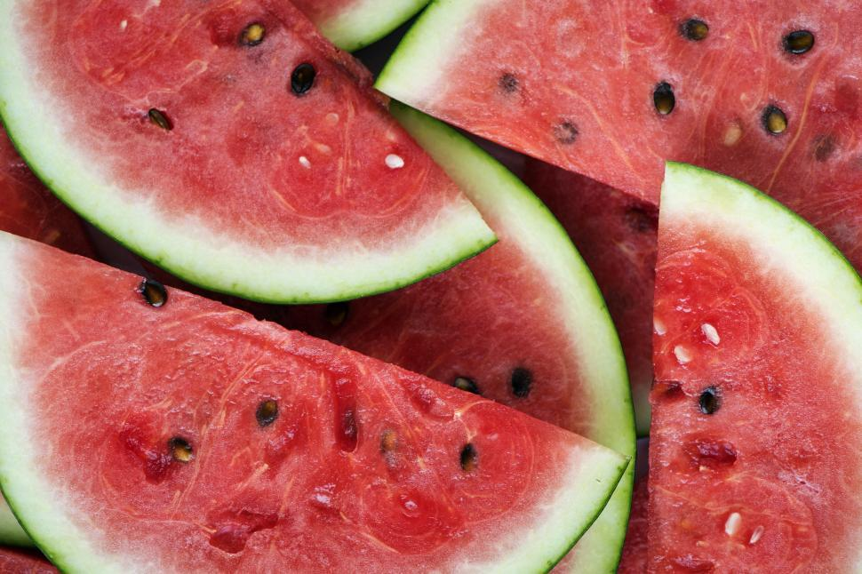 Download Free Stock HD Photo of Close up of watermelon slices Online