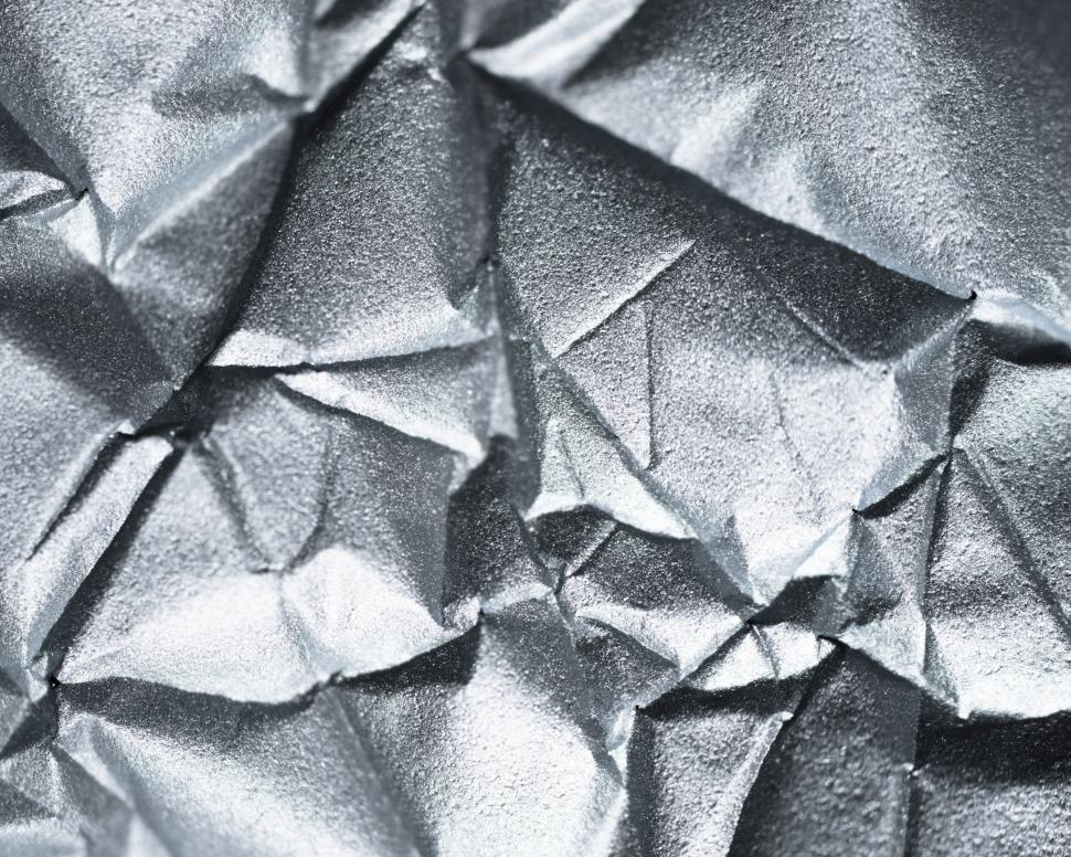 Download Free Stock Photo of Abstract texture of sliver wrinkled paper