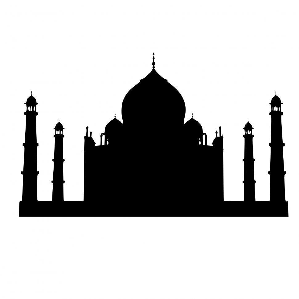 Download Free Stock Photo of Taj Mahal Silhouette