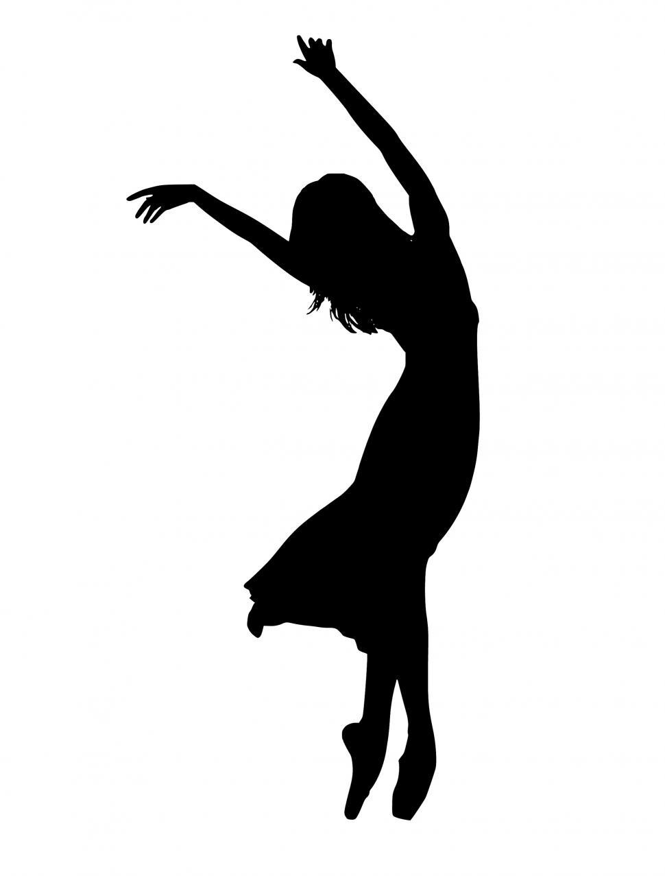 Download Free Stock Photo of dancer Silhouette