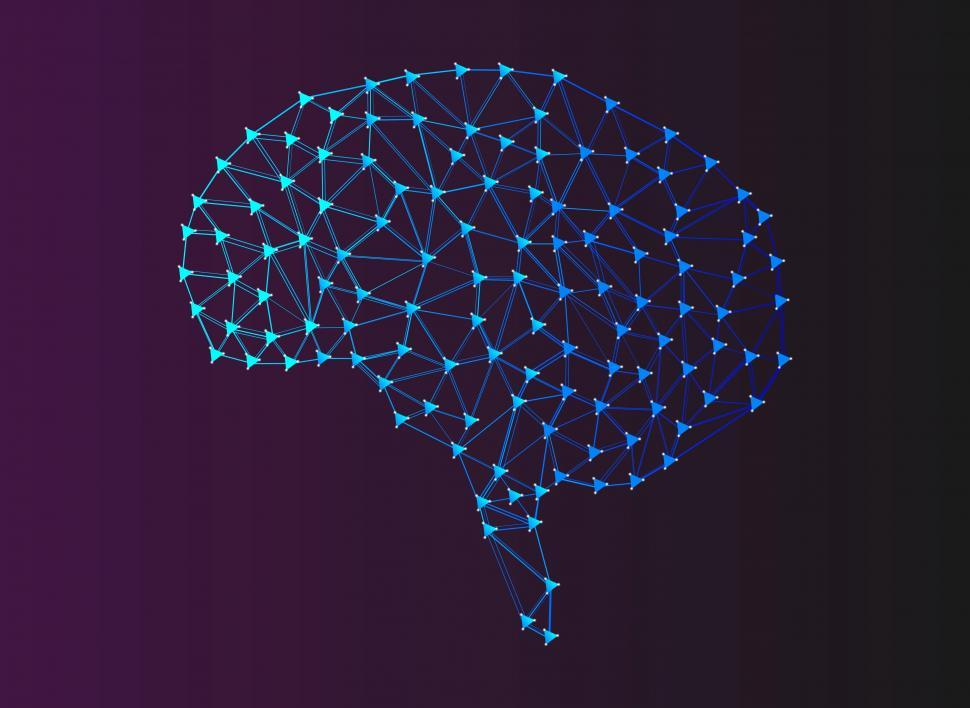 Download Free Stock HD Photo of Artificial Intelligence - Machine Learning - Digital Brain Mesh  Online