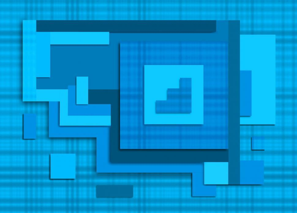 Download Free Stock HD Photo of Abstract Pattern - Squares and Rectangles - Cold Colors  Online