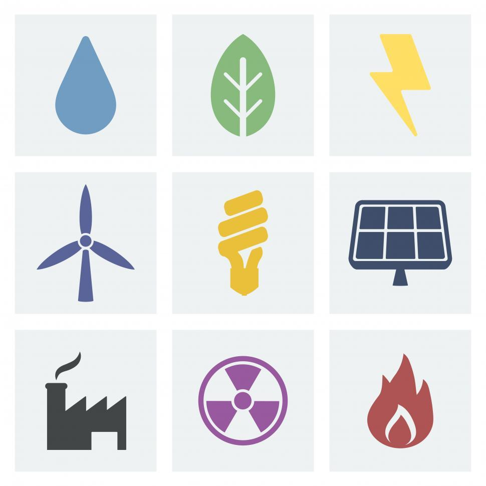Download Free Stock HD Photo of Various renewable energy symbols Online