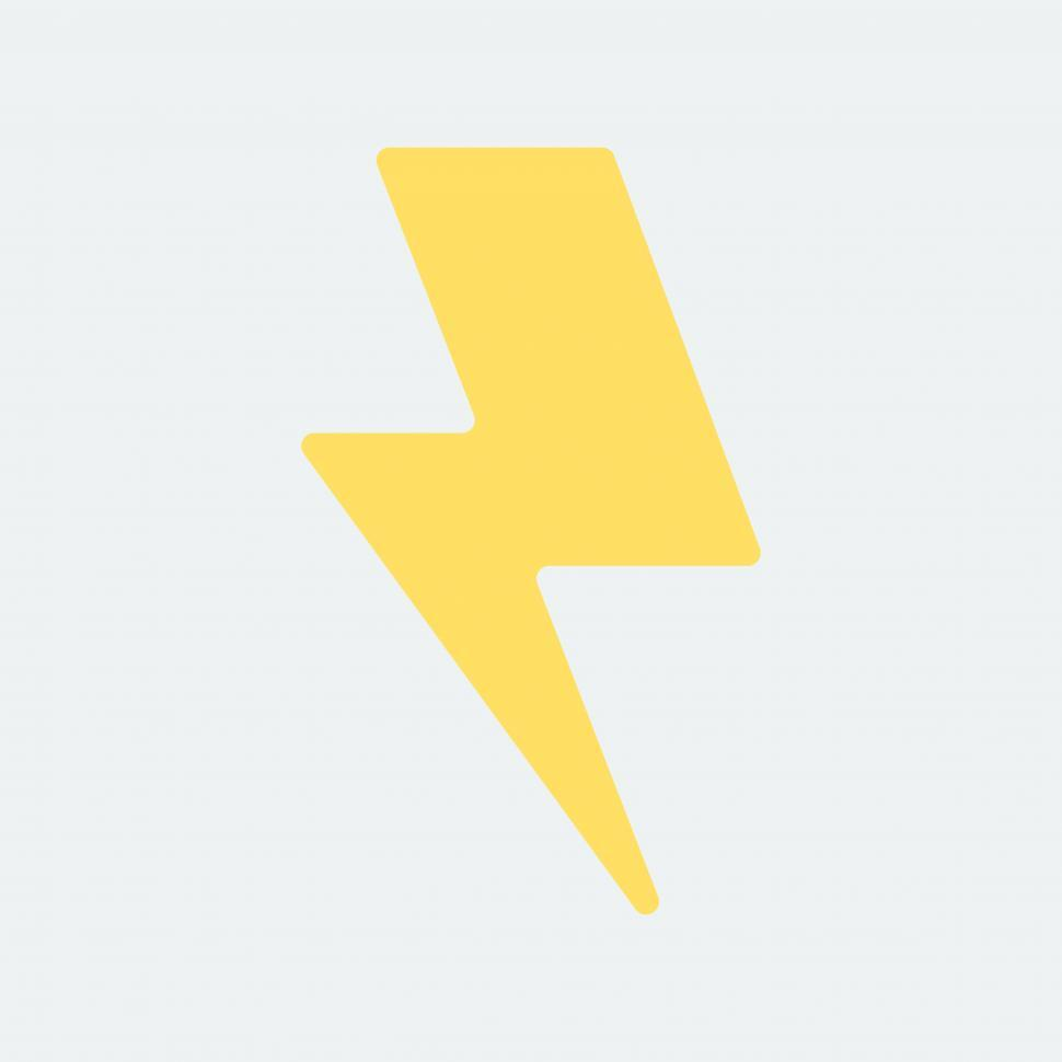 Download Free Stock HD Photo of Yellow electric lightning bolt symbol Online
