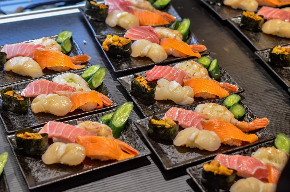 Download Free Stock Photo of Sushi in Buffet - Japanese Restaurant