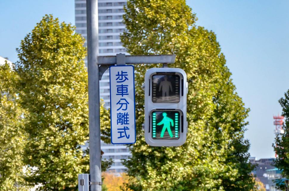 Download Free Stock Photo of Walking Traffic Light - Walk Now