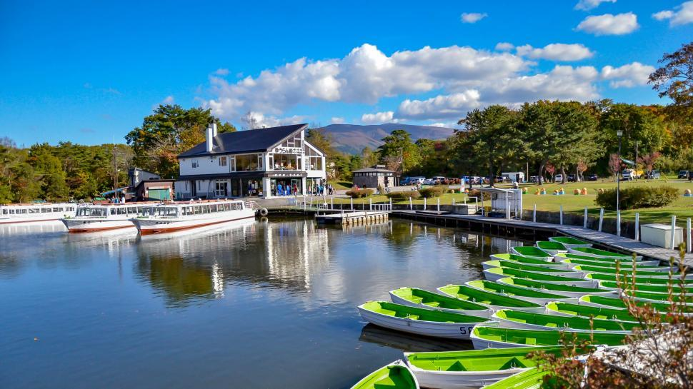 Download Free Stock HD Photo of Boats at Japanese Public Park  Online