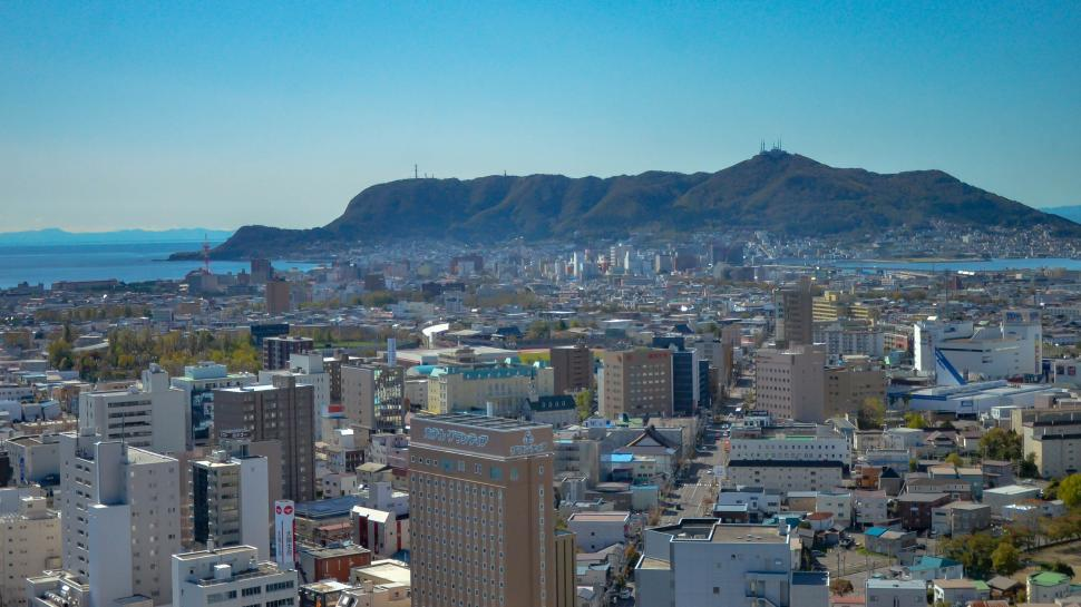 Download Free Stock Photo of Coastal City in Japan