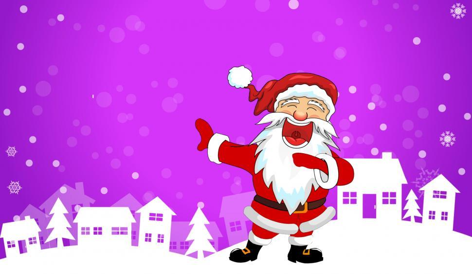 Download Free Stock Photo of christmas santa and winter scene