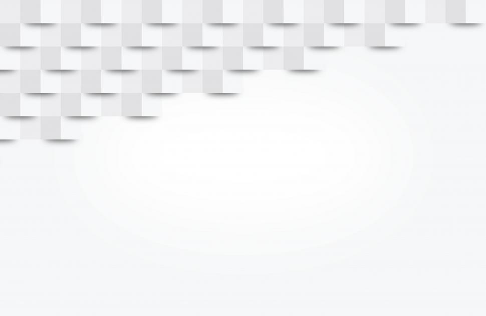 Download Free Stock Photo of White Abstract Geometric Background - With Copyspace