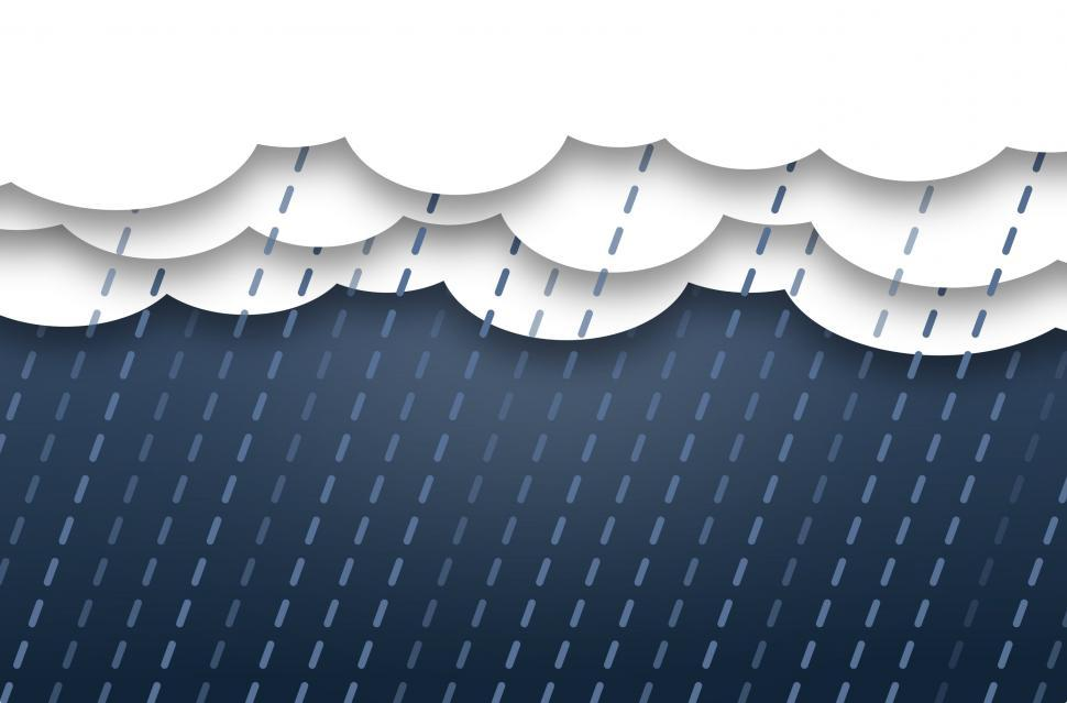 Download Free Stock Photo of Abstract Clouds with Rain - Background with Copyspace