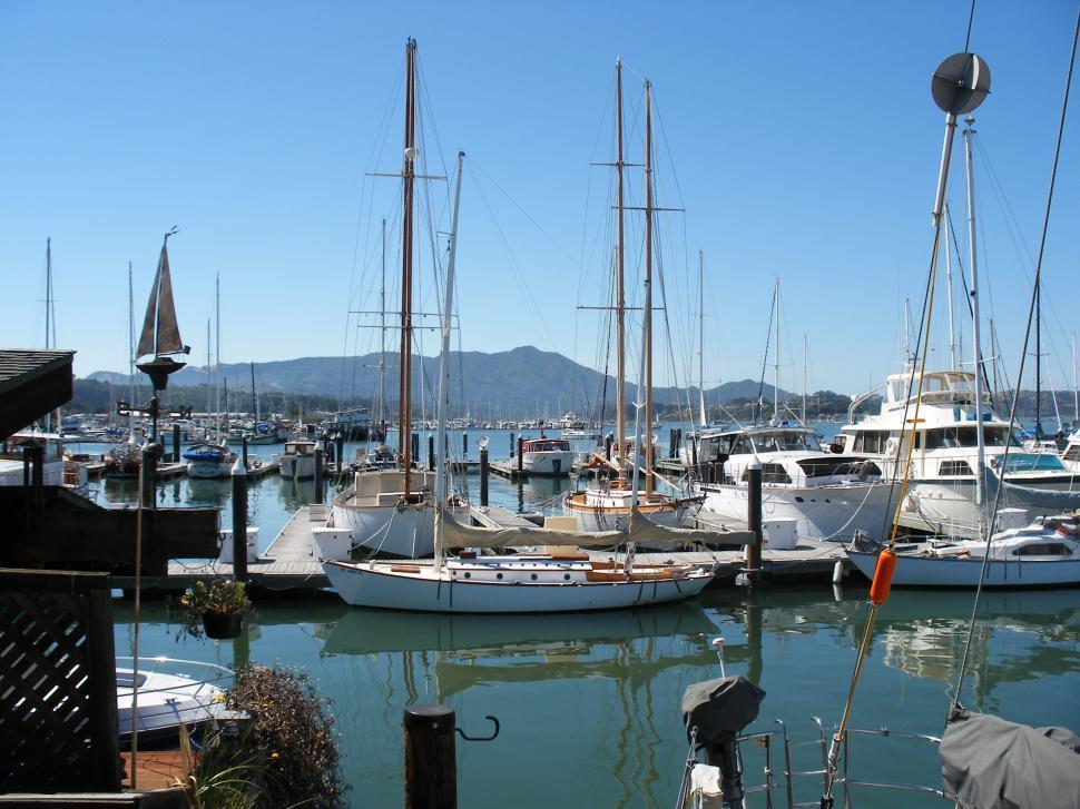 Download Free Stock Photo of Sausalito yachts.