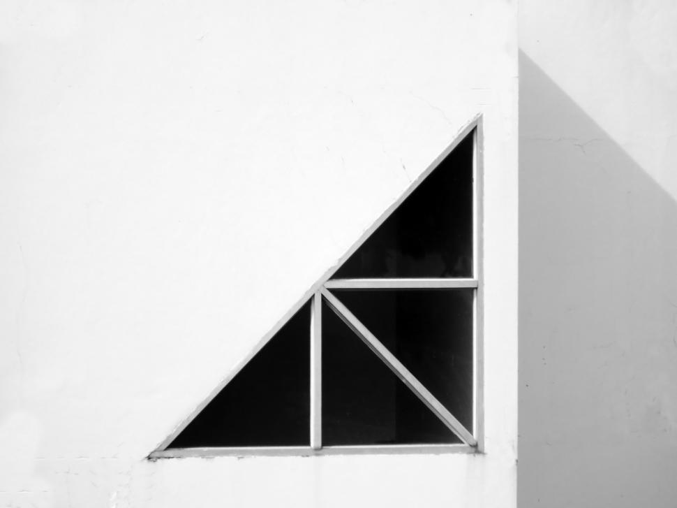 Download Free Stock HD Photo of Abstract Architectural Background Triangular window  Online