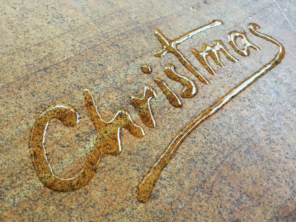 Download Free Stock HD Photo of Merry Christmas water calligraphy  Online
