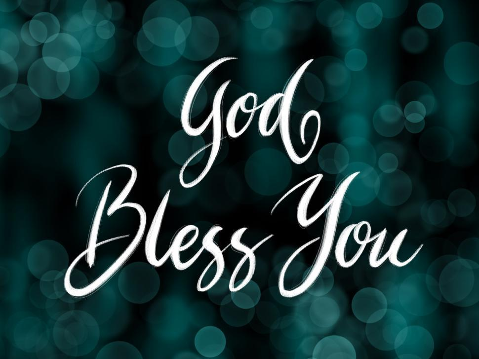 Download Free Stock Photo of God bless you handwriting calligraphy