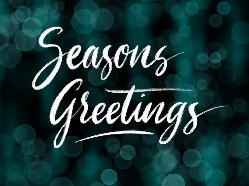 Download Free Stock HD Photo of Seasons greetings calligraphy  Online