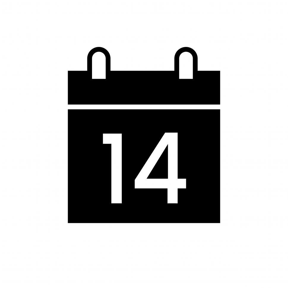 Download Free Stock Photo of Calendar sign vector icon