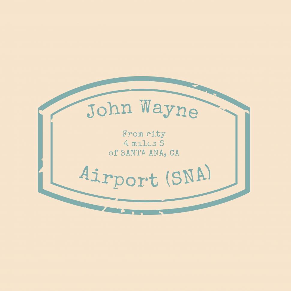 Download Free Stock Photo of John Wayne Airport stamp vector icon