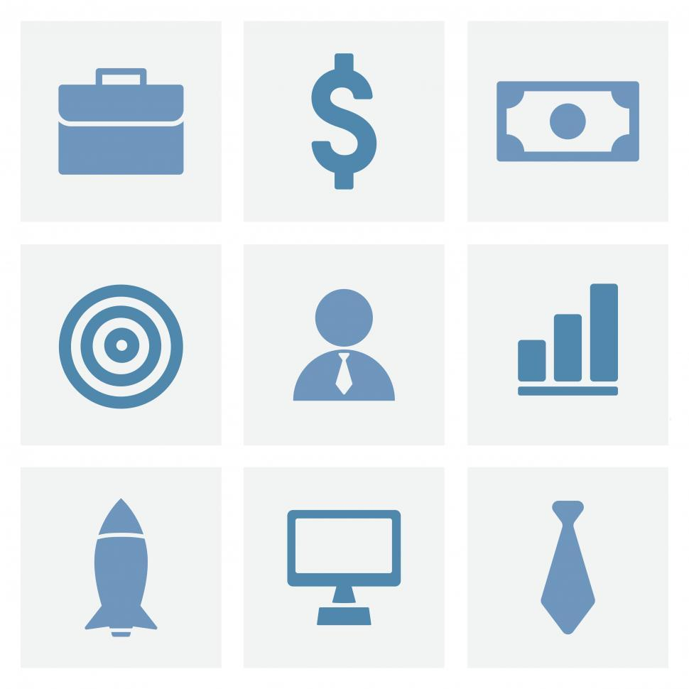 Download Free Stock HD Photo of A collection business and finance vector icons Online